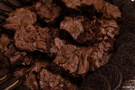 Chocolate brownies with Oreo