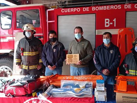 Empresas del sector hacen importante donación de insumos a Bomberos y Cesfam de 2 comunas de Chiloé
