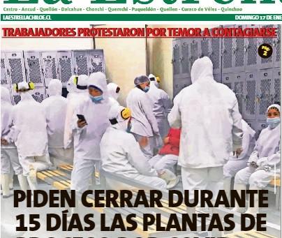 Piden cerrar plantas acuícolas por el alza de casos en Quellón