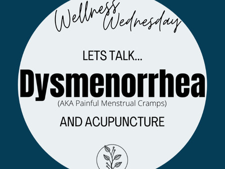 Lets Talk... Dysmenorrhea.