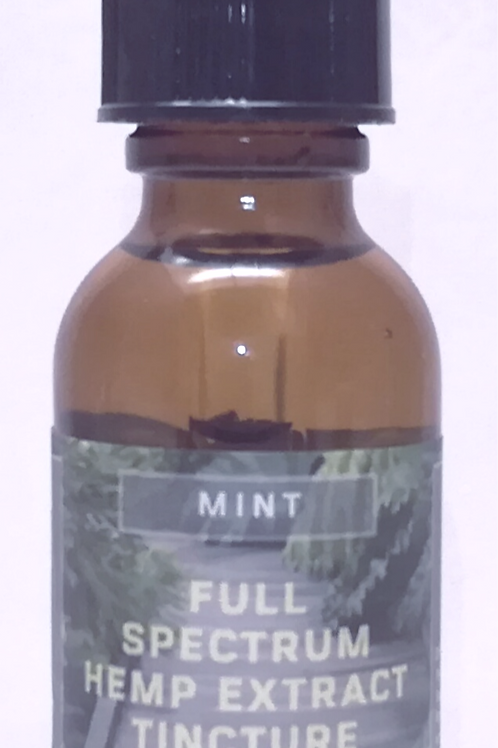 Full Spectrum Hemp Extract CBD Tincture  (Mint) 1500mg