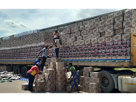 Smugglers declare groceries as fertilizer