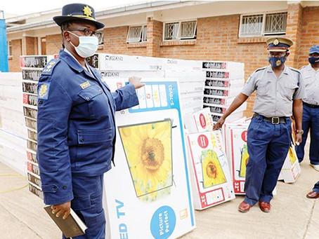 Smugglers busted with 121 smuggled TV sets