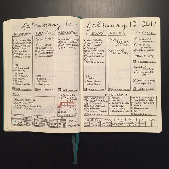 Busy week in a Bullet Journal