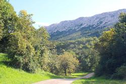 Trails in Baska, Krk