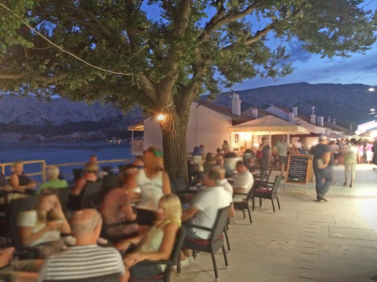 Baska, evening atmosphere