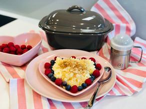 Milchreis aus dem Backofen zubereitet im kleinen Zaubermeister Lily von Pampered Chef® 2 (Portionen)