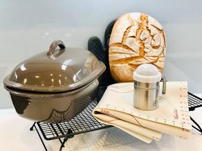 Schnelles Weizen/Dinkel Vollkornbrot gebacken im Ofenmeister von Pampered Chef®