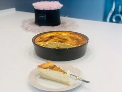 Rahmkuchen aus der runden Stoneware Leila von Pampered Chef®