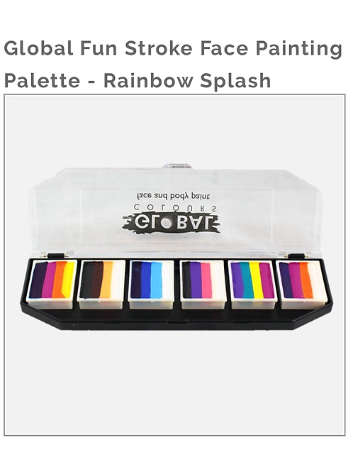 Global Fun Stroke Face Painting Palette-Rainbow Splash