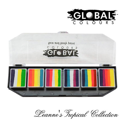 Global Fun Stroke paint Palette- Leanne's a Tropical Collection