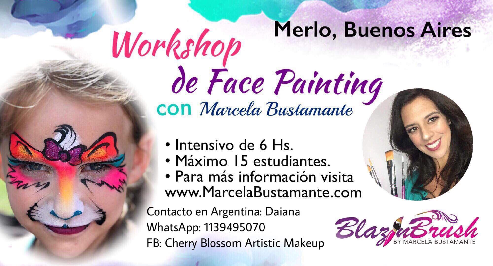 Face Painting workshop Merlo, Argentina