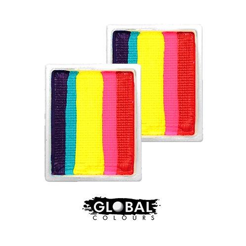 Global Body Art | Fun Stroke Refill - Leanne's Rainbow Neon LC (2 Pack)
