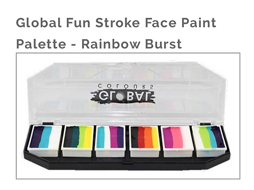 Global Fun Stroke Face Painting Palette-Rainbow Burst