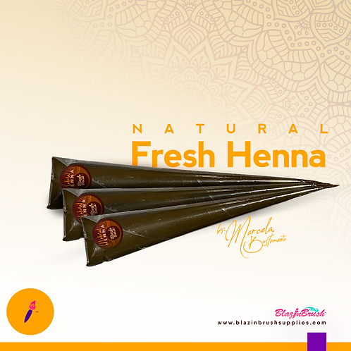 Henna Natural (3 cones)by Blazin Brush