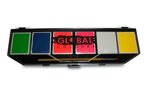Global Colours Paint - 6 Color Neon Palette
