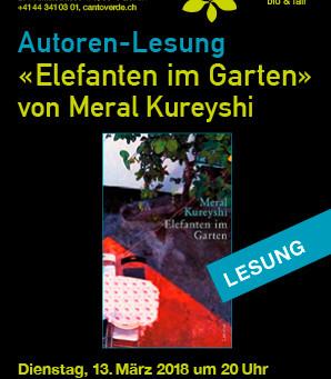 DI, 13. März 2018, 20 Uhr: Autoren-Lesung mit Meral Kureyshi