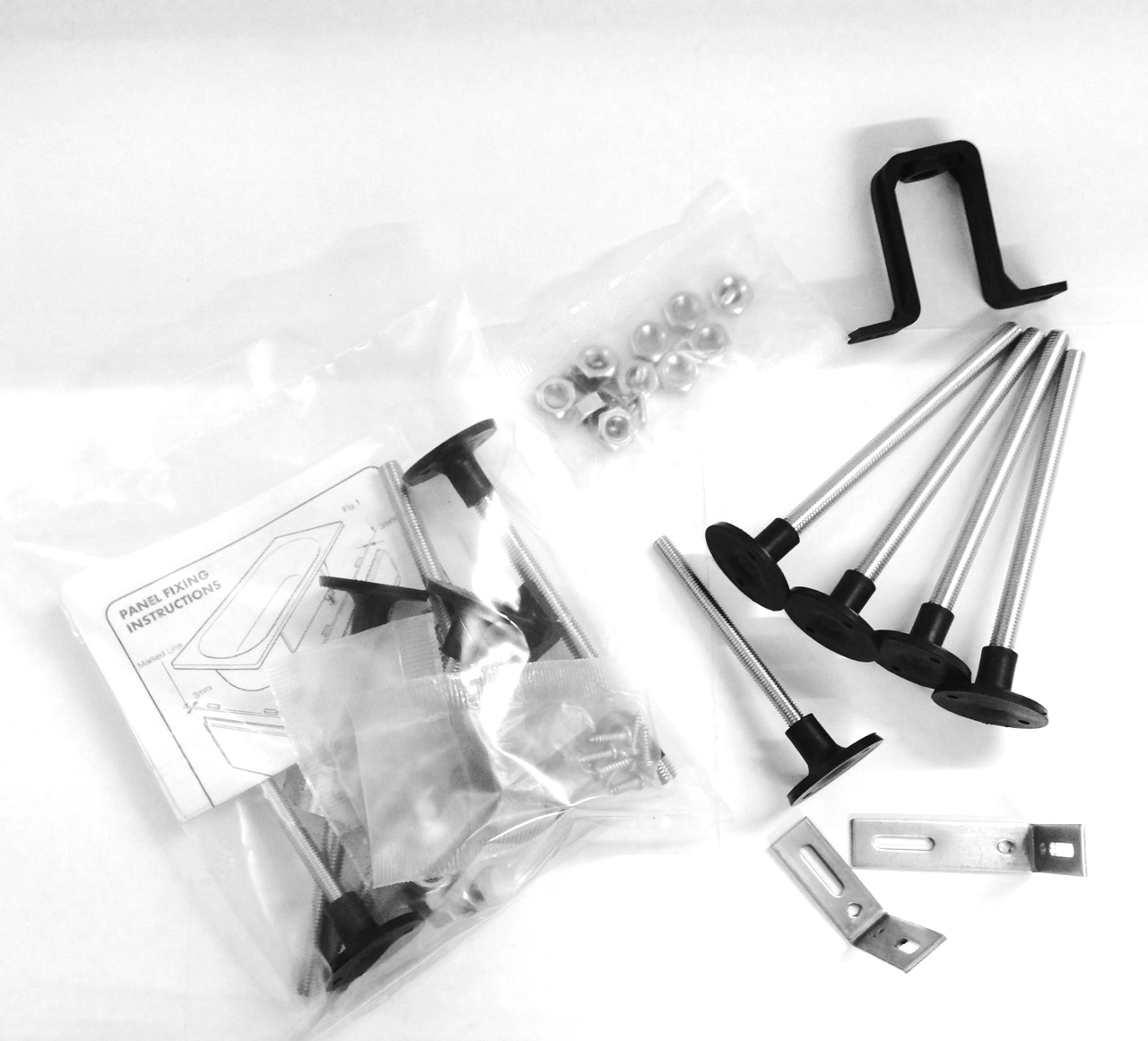 Contents of a bath kit assembled
