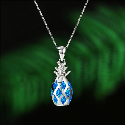 Pineapple 3D Opal Necklace