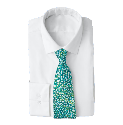 Fish Splatter Men's Work Tie