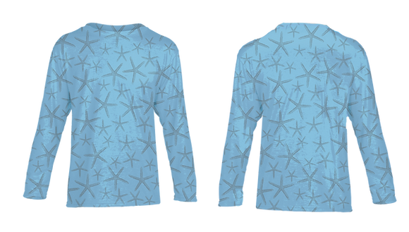 Youth Blue Starfish Performance LS