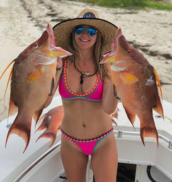 This girl loves her hogfish but I think