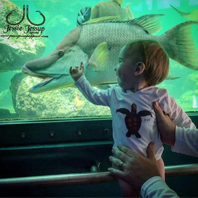 Our baby onesies getting a little exposure at the aquarium! Thanks for the send in _melscountry! Get