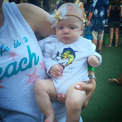 This pretty little one rocking our dotted mahi performance UV40 baby onesie! Give  _smlynng a follow