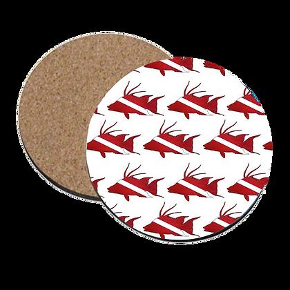 Dive Hogfish Print Coaster