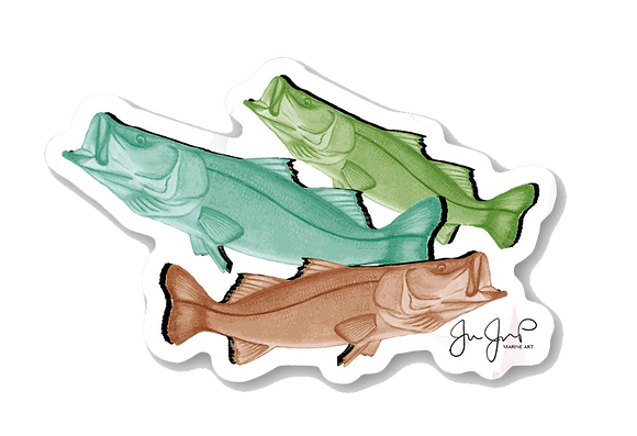Snook Trio Sticker
