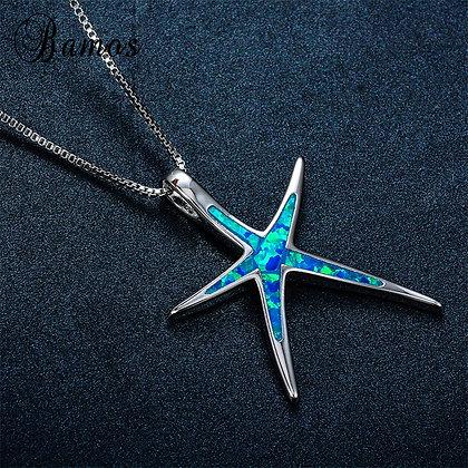 Thin Starfish Opal Necklace