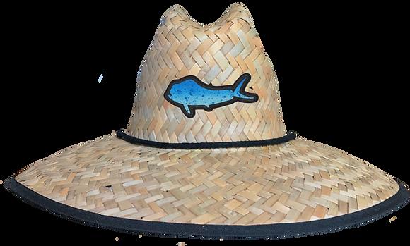 Blue Mahi Patch Straw Hat