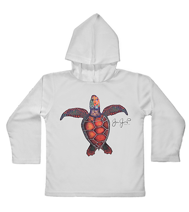 Sea Turtle Toddler Hooded LS