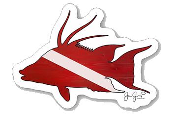 Dive Hogfish Sticker