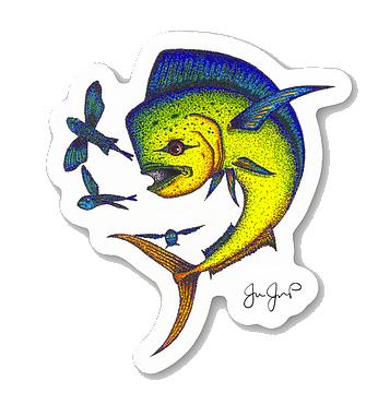 Dotted Mahi Sticker