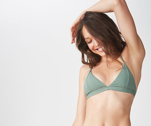 Olive Islander Bikini Top