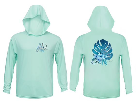 Youth Tropical Bouquet Performance Hoodie
