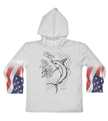 USA Marlin Toddler Hooded LS