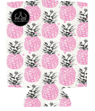 Pink Pineapples 12 oz. Can Coolie