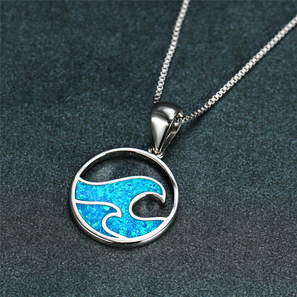Wave After Wave Opal Necklace