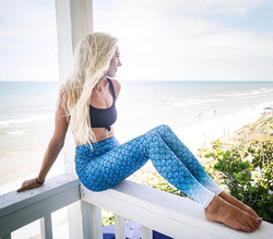 Mermaid leggings 🐳 #mermaid #leggings #fla #paddleboarding #UVprotection