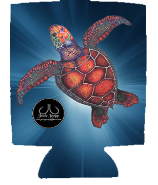 Sea Turtle 12 oz. Can Coolie