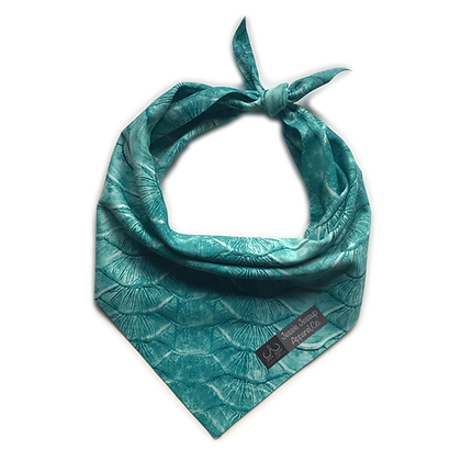 Teal Tarpon Scales Pet Bandana