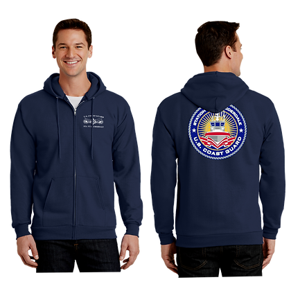 USCG STATION ZIP-UP HOODIE