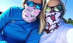 Our two favorite ladies wearing our buffs the other day! Give _amandaplease_95 a follow and don't fo