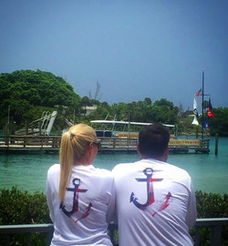 Shoutout to _rizzo_robin for the photo send in with his and hers matching USA Anchor performance tee