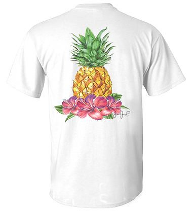 Youth Tropical Pineapple Performance SS