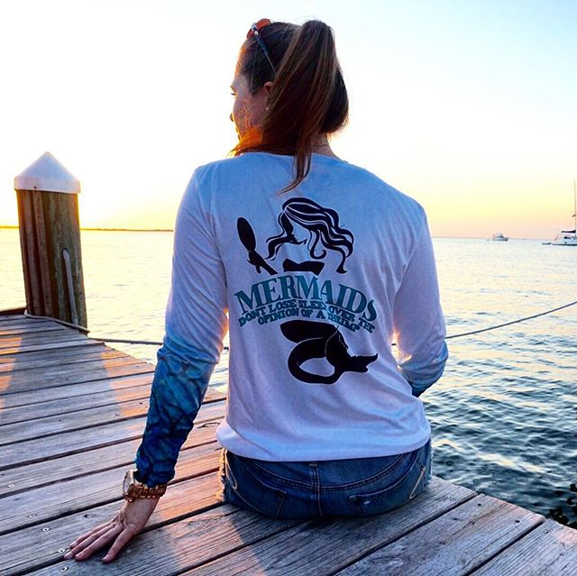 Mermaids don't lose sleep over the opinion of a shrimp performance shirts are now our ladies best se
