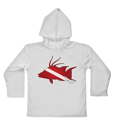 Dive Hogfish Toddler Hooded LS