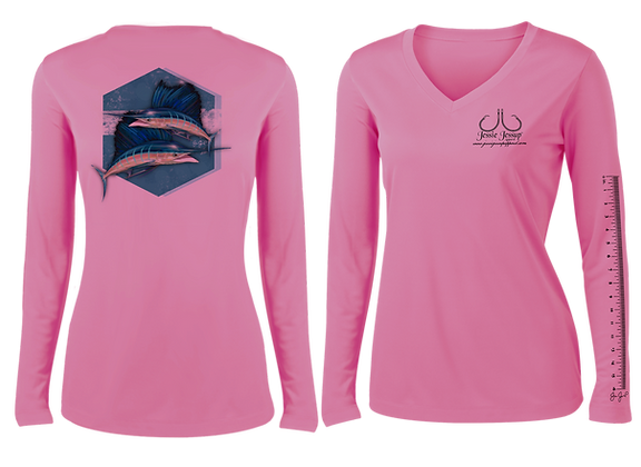 Ladies Sailing into the Blue Performance LS